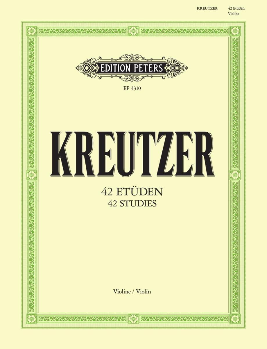 42 Etudes - Rodolphe Kreutzer - Partition - Violon - laflutedepan.com
