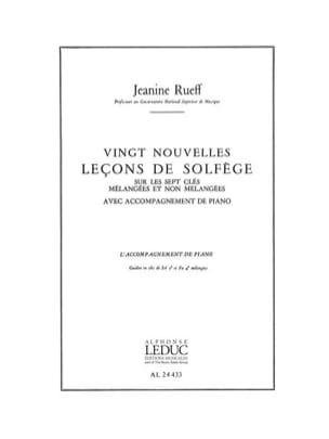 20 Nouvelles leçons de solfège - Accomp. Jeanine Rueff laflutedepan