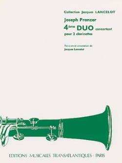 4ème Duo Concertant - 2 Clarinettes Joseph Pranzer laflutedepan