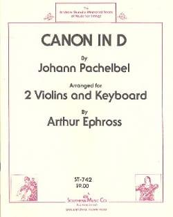 Canon in D - 2 Violins piano PACHELBEL Partition Trios - laflutedepan