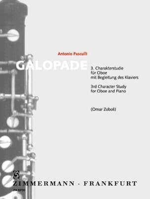 Galopade Antonino Pasculli Partition Hautbois - laflutedepan