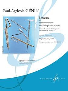 Berceuse Op.6 Paul Agricole Génin Partition laflutedepan