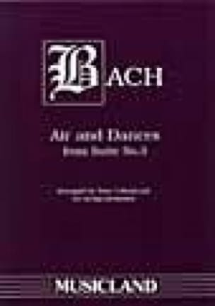Air And Dances From Suite N°3 - BACH - Partition - laflutedepan.com