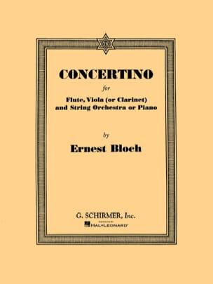 Concertino -Flute, viola clarinet piano BLOCH Partition laflutedepan