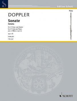 Sonate, opus 25 - 2 Flûtes et Piano Franz Doppler laflutedepan