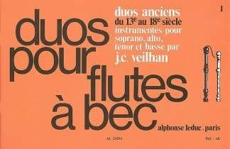 Duos anciens du 13e au 18e siècle - 2 flûtes à bec - laflutedepan.com