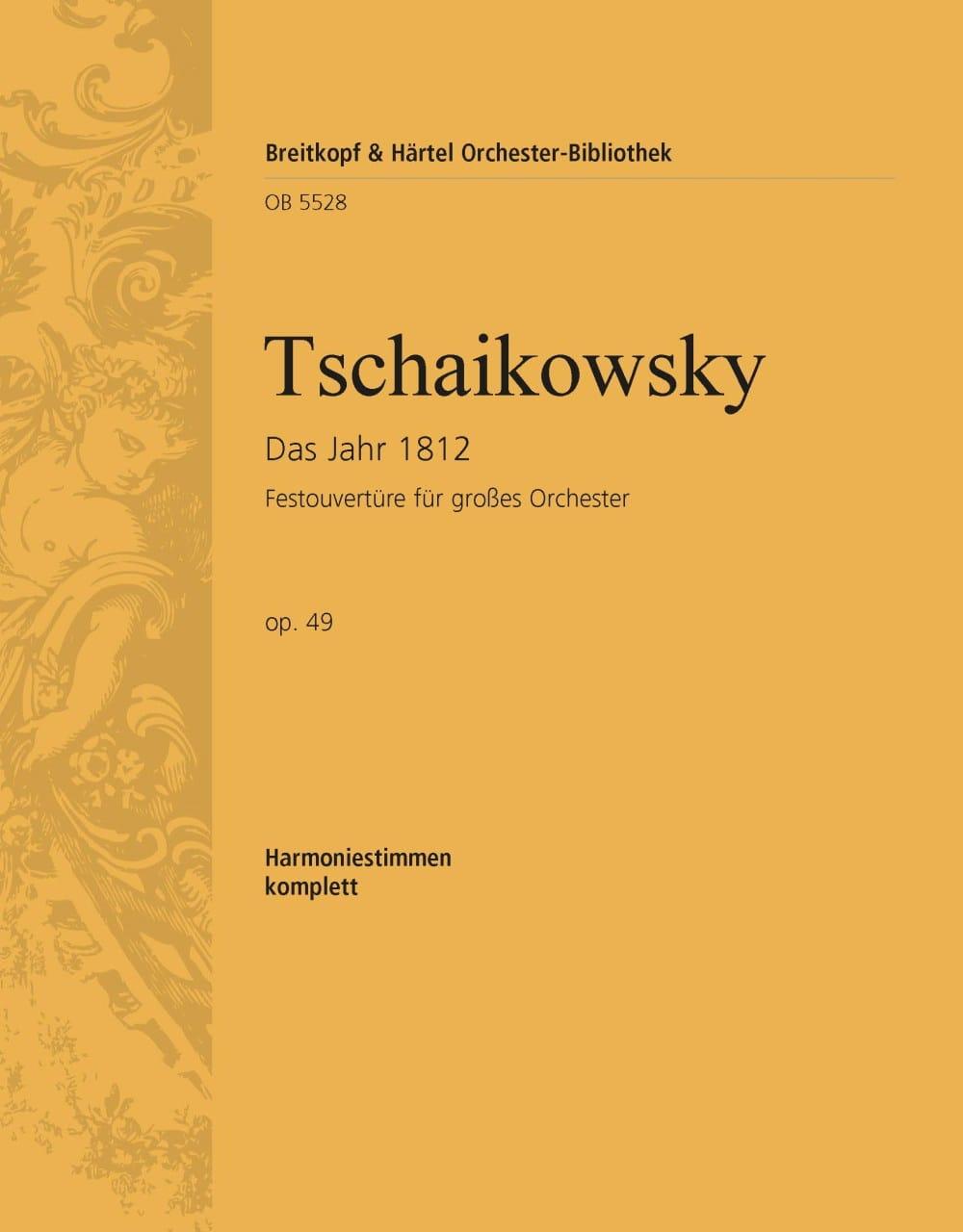 1812. Ouverture solennelle, op. 49 - TCHAIKOVSKY - laflutedepan.com