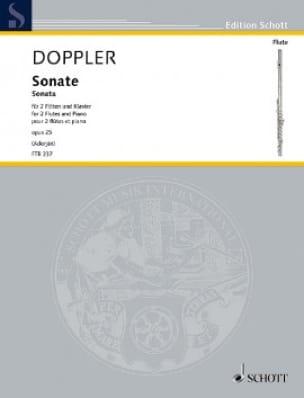 Sonate, opus 25 - 2 Flûtes et Piano - Franz Doppler - laflutedepan.com