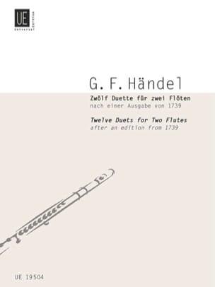 12 Duette - 2 Flöten HAENDEL Partition laflutedepan