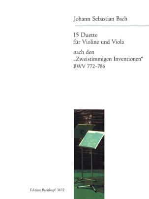 15 Duette nach Zweistimmigen Inventionen BWV 772-786 BACH laflutedepan