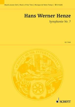 Sinfonie Nr. 7 1983/84 Hans Werner Henze Partition laflutedepan