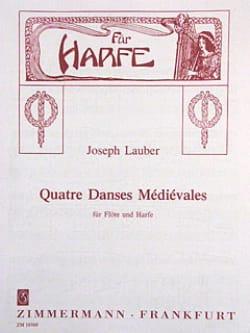 4 Danses Médiévales Op.45 Joseph Lauber Partition Duos - laflutedepan