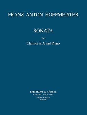 Sonata - Clarinet in A and piano HOFFMEISTER Partition laflutedepan