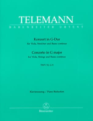 Concerto en sol Majeur TWV 51 : G9 -Alto et piano laflutedepan