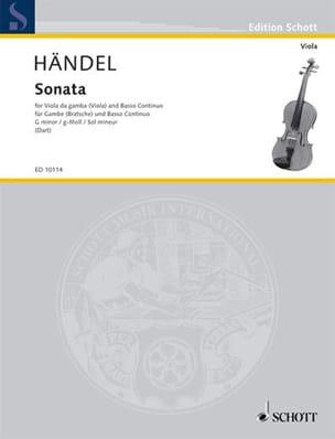Sonata g-moll HAENDEL Partition Viole de gambe - laflutedepan