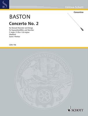 Concerto n° 2 C-Dur - Sopranblockflöte John Baston laflutedepan