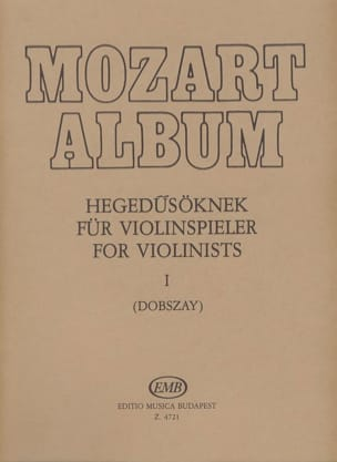 Mozart Album, Volume 1 Lieder - MOZART - Partition - laflutedepan.com