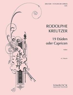 19 Etudes ou Caprices Flesch Rodolphe Kreutzer Partition laflutedepan