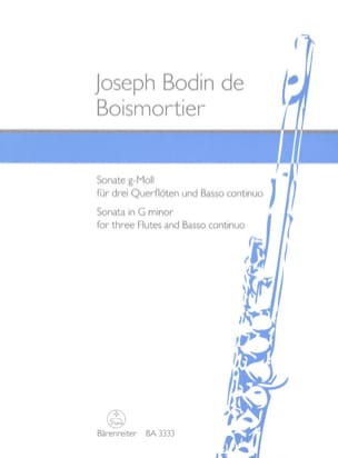 Sonate g-moll für 3 Flöten und BC BOISMORTIER Partition laflutedepan