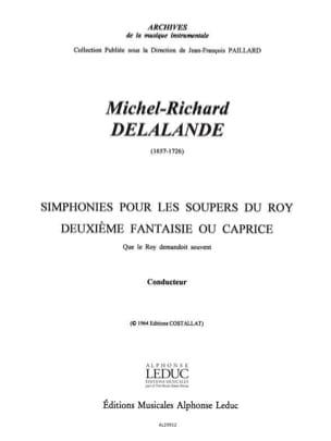 Symphonies pour les Soupers du Roy - 2e Fantaisie Caprice- Conducteur et Parties laflutedepan