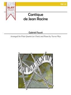 Cantique de Jean Racine -4 Flutes et piano FAURÉ laflutedepan
