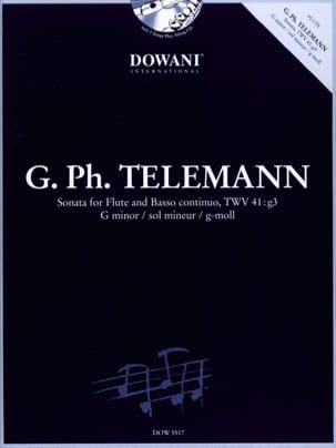 Sonate En Sol Min. TWV41:g3 - TELEMANN - Partition - laflutedepan.com