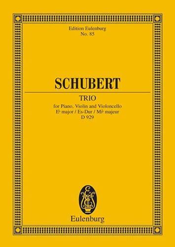 Trio en Mi B Majeur Op. 100 D 929 - SCHUBERT - laflutedepan.com