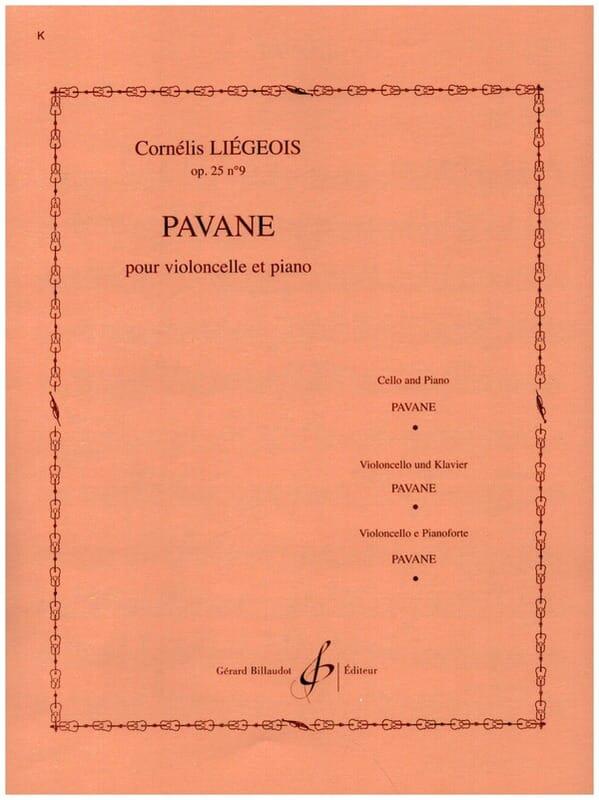 Pavane op. 25 n° 9 - Cornélis Liegeois - Partition - laflutedepan.com