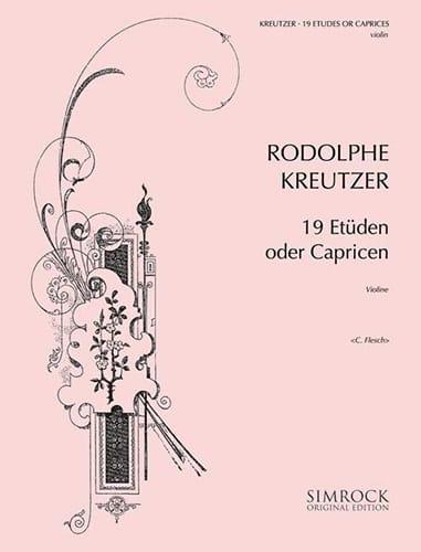 19 Etudes ou Caprices Flesch - Rodolphe Kreutzer - laflutedepan.com
