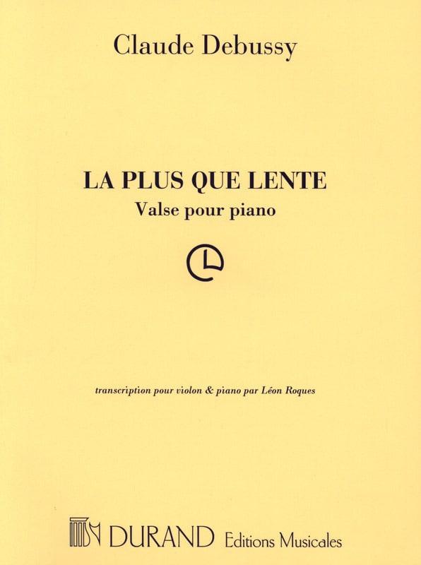 La Plus Que Lente - DEBUSSY - Partition - Violon - laflutedepan.com