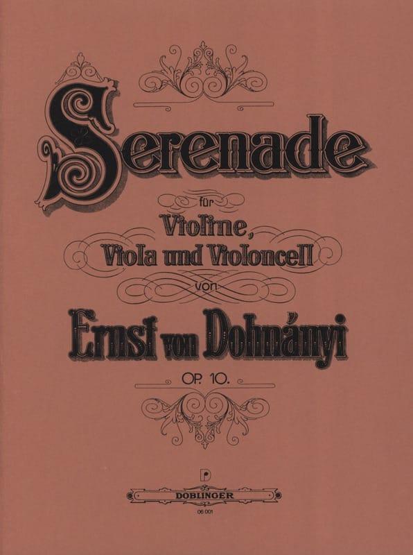 Sérénade op.10 - Stimmen - DONHANYI - Partition - laflutedepan.com