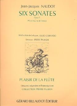 6 Sonates op. 1 - Flûte piano Jean-Jacques Naudot laflutedepan