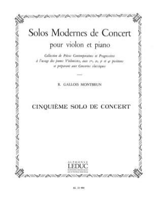 Solo de Concert n° 5 Raymond Gallois-Montbrun Partition laflutedepan