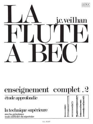 La Flûte A Bec Volume 2 Jean-Claude Veilhan Partition laflutedepan