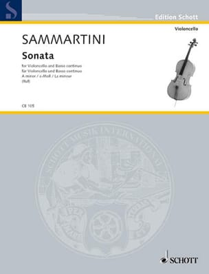 Sonate A-Moll - Violoncello SAMMARTINI Partition laflutedepan