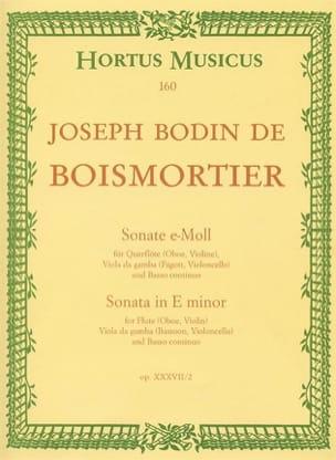 Sonate e-moll - Flöte Oboe, Violine, Viola da Gamba Fagott, Cello u. Bc laflutedepan