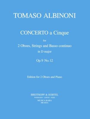 Concerto a 5 op. 9 n° 12 D maj. -2 Oboes piano ALBINONI laflutedepan