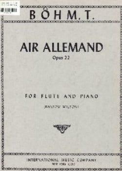 Air allemand op. 22 Theobald Boehm Partition laflutedepan