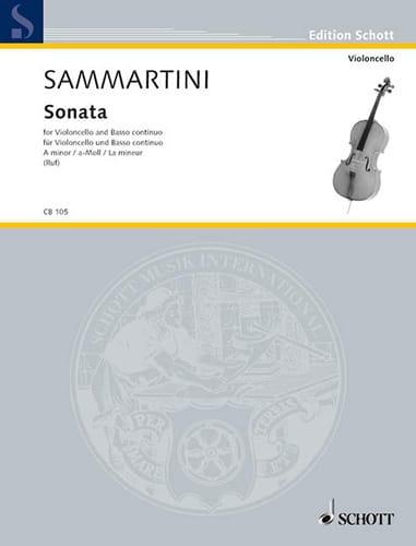 Sonate la mineur - Violoncelle - SAMMARTINI - laflutedepan.com