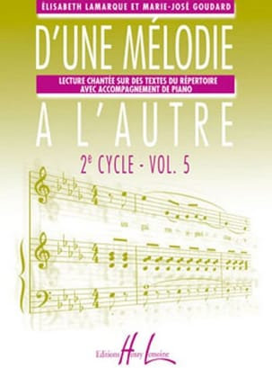 D'une mélodie à l'autre - Volume 5 - 3ème Cycle laflutedepan