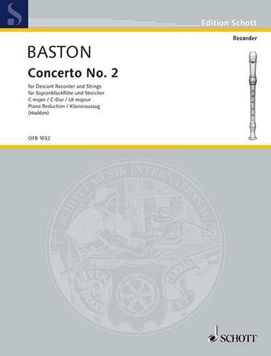 Concerto Nr. 2 C-Dur für Sopranblockflöte - laflutedepan.com
