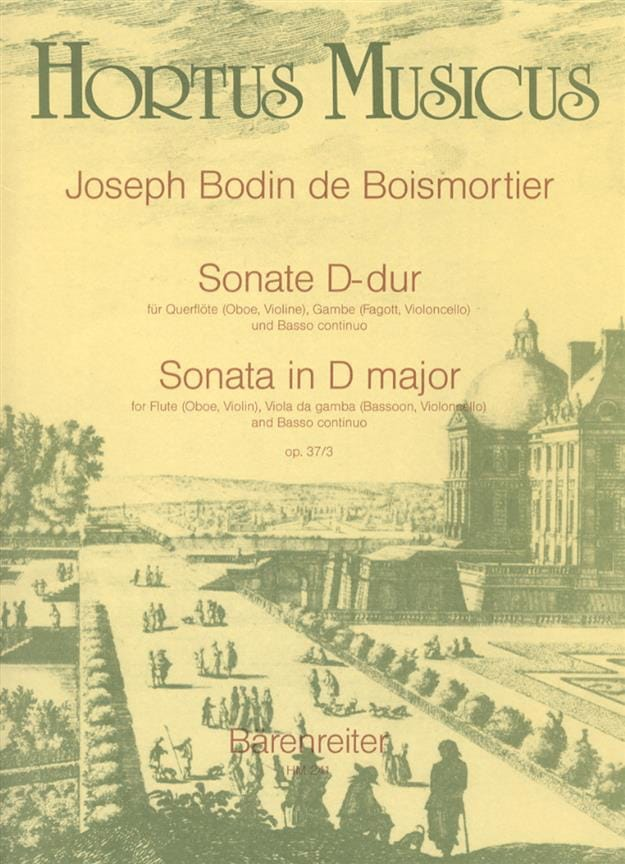 Sonate D-Dur - Flöte Oboe, Violine, Viola da Gamba Fagott, Cello u. Bc - laflutedepan.com