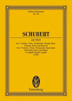 Octuor en Fa Majeur D. 803 Op. Posth 166 SCHUBERT laflutedepan