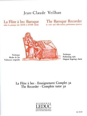 La flûte à bec baroque - Volume 3A Jean-Claude Veilhan laflutedepan