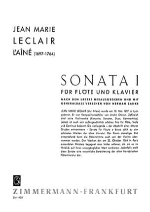 Sonata n°1 - Flöte Klavier LECLAIR Partition laflutedepan