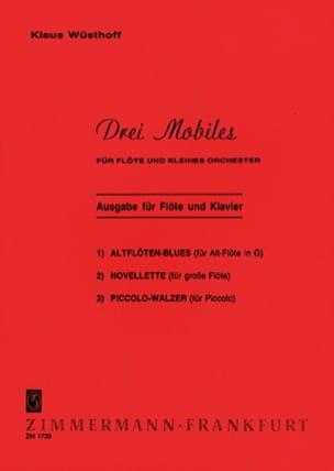 3 Mobiles - Flöte Klavier Klaus Wüsthoff Partition laflutedepan