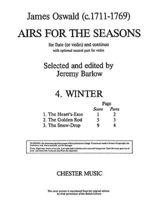 Airs for the seasons 4. Winter James Oswald Partition laflutedepan