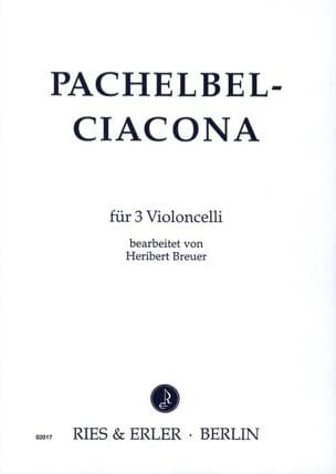 Ciacona - 3 Cellos - PACHELBEL - Partition - laflutedepan.com