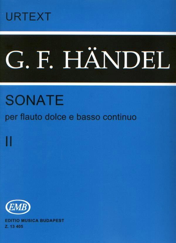 Sonates - Volume 2 - Flauto dolce e bc - HAENDEL - laflutedepan.com