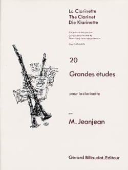 20 Grandes études Paul Jeanjean Partition Clarinette - laflutedepan